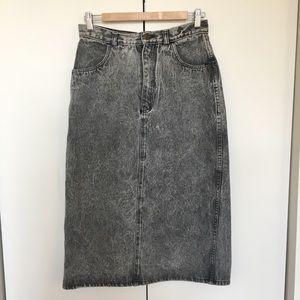 Dresses & Skirts - Acid Washed Denim Midi Skirt